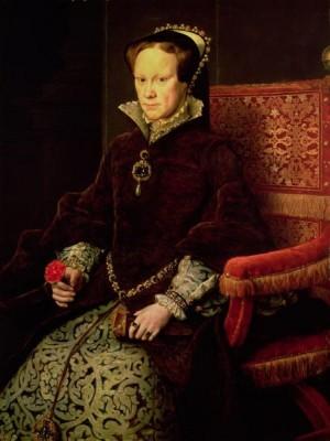 Дочь Генриха и Екатерины Арагонской Мария.
