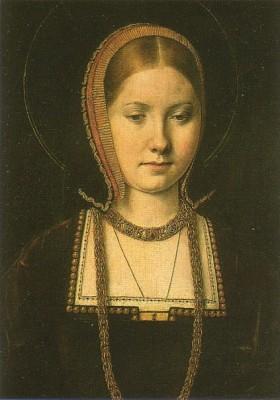 Первая жена короля Екатерина Арагонская, испанская принцесса.