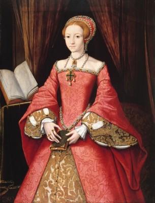 Елизавета первая. Дочь короля Генриха и его второй жены Анны Болейн.